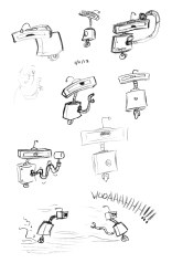 Trying to make a robot with hardly any facial features expressive.