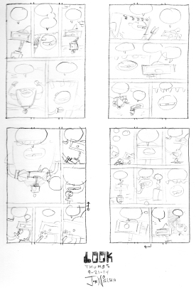 Towards the end of the project I started thumbnailing each page ahead of time. My least favorite part of the process!
