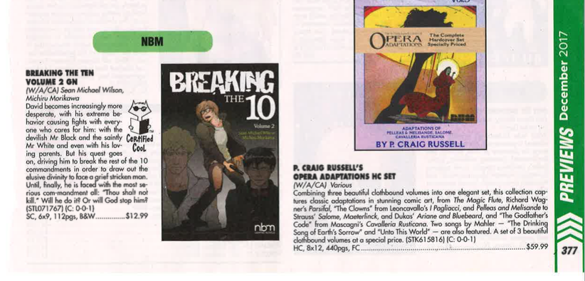 Breaking the 10 vol 2 nice mention