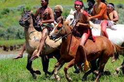 All of the Native actors were local Crow teenagers, all expert bareback riders.