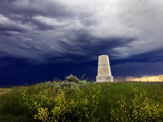 Custer Memorial in the Little Big Horn National Park.