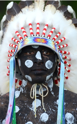 Actor portraying Crazy Horse.